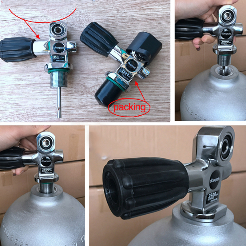 Valve de cylindre de plongée G3/4 interrupteur k-type pour interrupteur de cylindre d'oxygène en aluminium accessoires de réservoir de plongée connecteur de régulateur