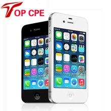 В запечатанной коробке Apple Iphone 4S Оригинальный iphone 4S GPS WI-FI 3.5 экран 16 ГБ/32 ГБ/64 ГБ хранения Dual Core Телефон добавить стекла фильм