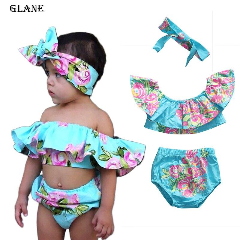 Zomer Baby Meisjes badmode Zeemeermin Bikinis Kleding Off Shoulder - Sportkleding en accessoires