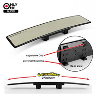 Broadway Untra Thin Universal 270mm Wide Convex Auto Clear Interior Mirrors Clip On Car Vehicle Truck