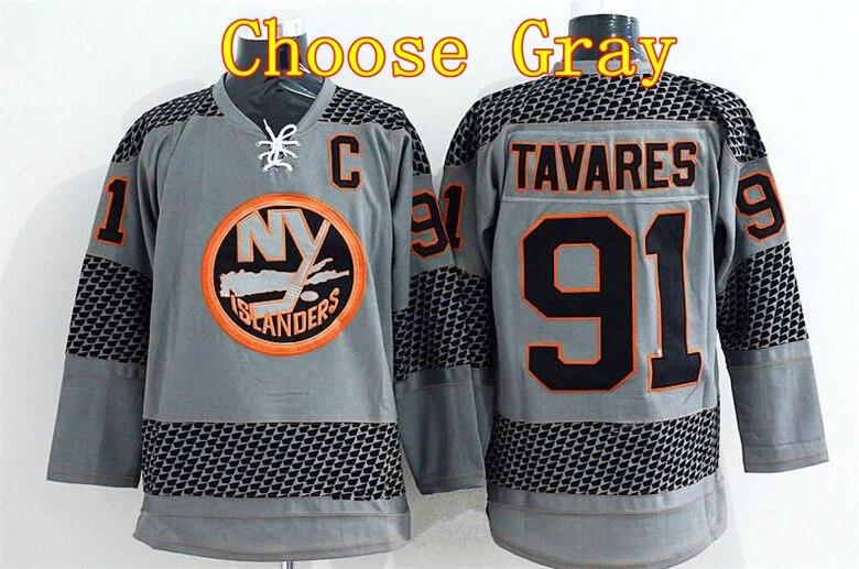 69d166d7 New York Islanders 91 John Tavares Jersey Black Premier Alternate Blue  White Orange ...