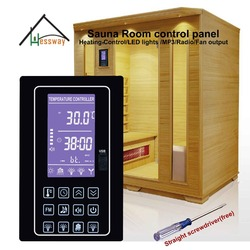 220V 110V 30A Multifunction dry steam sauna room electric heater controller panel price with Blue backlight