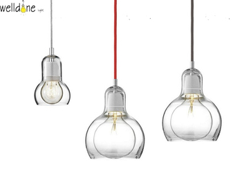 Creative Nordic design new classic was blown Clear luster glass Bulb Leuchte pendant lamp for bedroom living room kitchen bar
