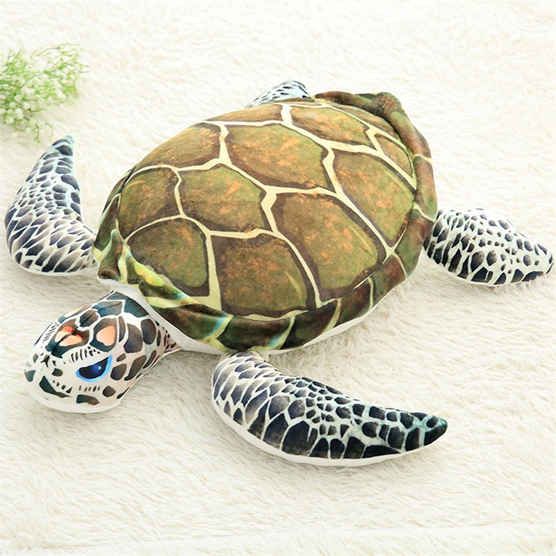 Plush Ocean Sea Turtle Toys Soft Cute Pillow Super Soft Stuffed Animal Turtle Dolls Best Gifts for Kids Friend Baby 18.5