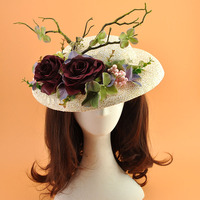 Hair Bands For Women Wedding Hat Veil Girls Hair Accessories flower party headband