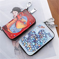 Japan and South Korea Style Retro Cute Graffiti Joker Portable Practical Small Zipper Key Wallet