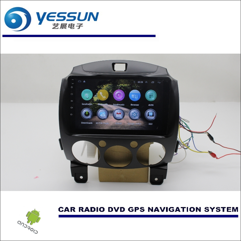 YESSUN Car Multimedia Navigation Android System For Mazda 2 2007~2014 GPS Player NAVI Camera Radio Stereo HD Screen (NO CD DVD) yessun car android navigation system for hyundai i20 click 2008 2014 radio stereo cd dvd player gps navi screen multimedia