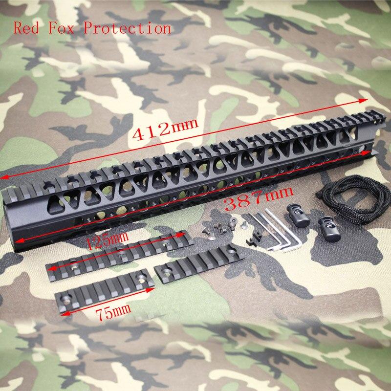 Tactical Accessories LVOA-C 16.2 inch Aluminum Handguard and Picatinny Rail 3pcs mounts hunting shooting accessories rail paintball airsoft 12 inch one rail float quad rail handguard picatinny for aeg m16 m4 ar 15