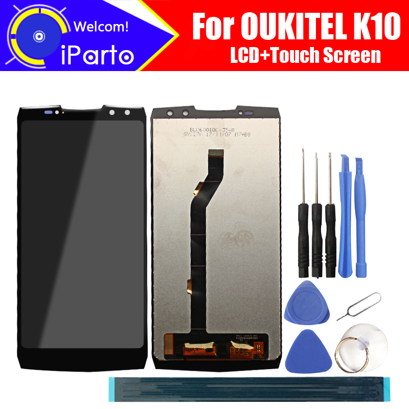 6.0 inch OUKITEL K10 LCD Display+Touch Screen Digitizer Assembly 100% Original New LCD+Touch Digitizer for OUKITEL K10+Tools6.0 inch OUKITEL K10 LCD Display+Touch Screen Digitizer Assembly 100% Original New LCD+Touch Digitizer for OUKITEL K10+Tools