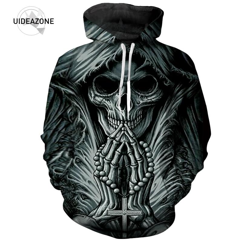 2018 nuevo llegan 3D impreso grim reaper cráneo tatuaje Hoodies hombres  mujeres moda Otoño ropa deportiva con capucha Dropship en Camisas y  Sudaderas de La ... d13f67c1211