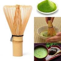 Cerimônia japonesa de bambu 64 matcha pó batedor chá verde chasen escova ferramentas conjuntos chá verde conjunto de acessórios