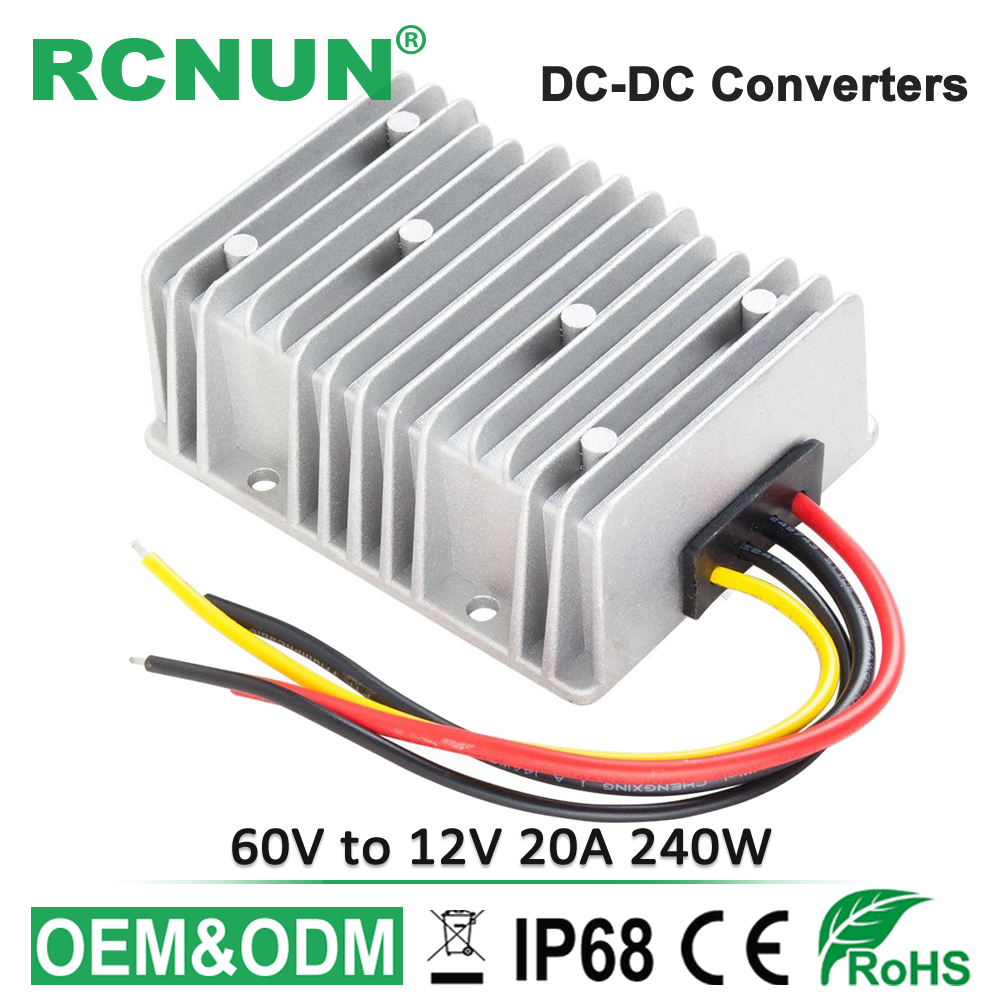 US $18 0 |36V 48V 60V 72V to 12V 20A 240W DC DC Step Down Converter  Regulator 32 80 Volt to 12 Volt Switching Power Supply-in Inverters &  Converters