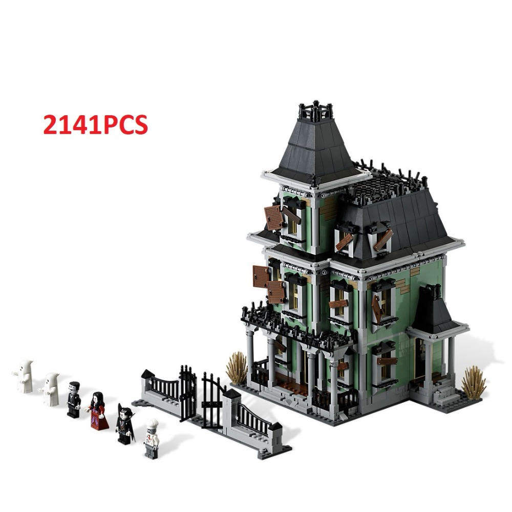 Lepin Building Blocks 2141PCS Monster Fighters Haunted House Toys for children Bricks Model boy Kids gift Compatible Legoe 10228 education building blocks bricks toy gun boy toys for children model new year christmas gift free shipping compatible lepin