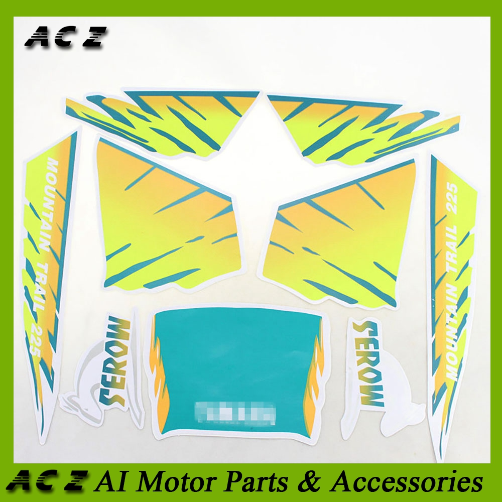 US $13 5 20% OFF|ACZ Motorcycle Complete Graphic Kit Sticker Fuel Tank  Decal Gas Tank Decals For Yamaha Serrow 225 XT225 XT 225 Dirt Bike-in  Decals &
