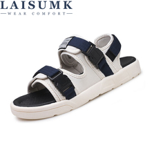 LAISUMK Outdoor Fashion Men Sandals Summer Shoes Casual Breathable Beach Sapatos Masculinos
