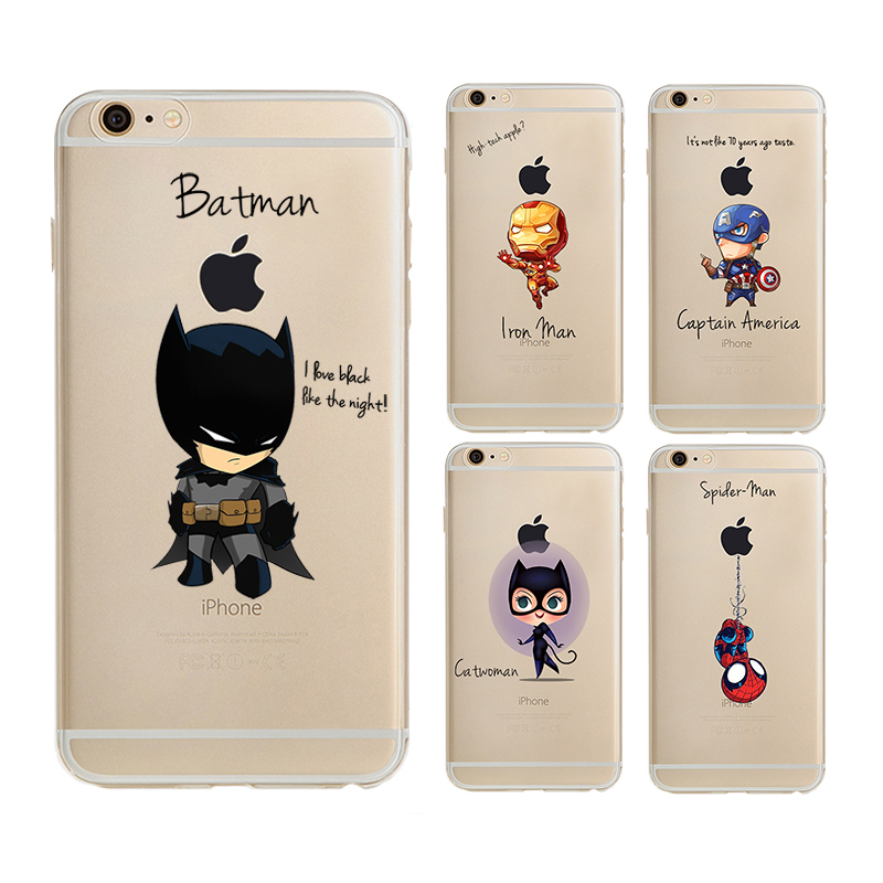 The Avengers Phone Case iron Man Captain America batman spider man Cover For Apple iPhon ...