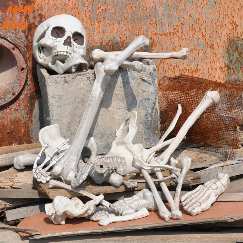 Buy 28pc bag of bones halloween skeleton for Bag of bones halloween decoration