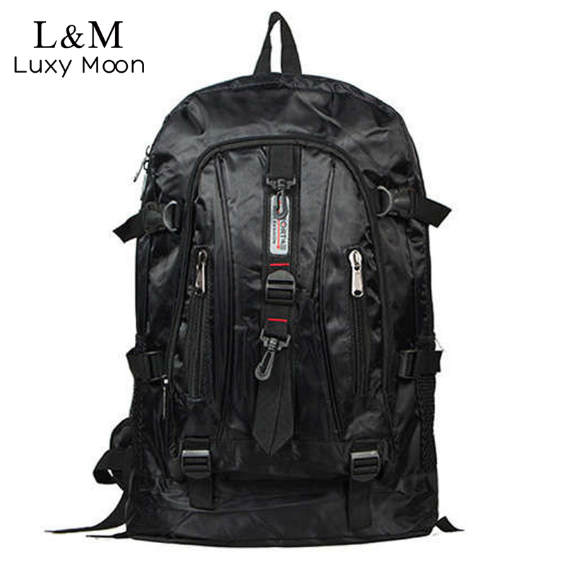 Luxy moon Large Men Backpack Waterproof Nylon Travel Rucksack Black Backpacks School Bags Teenage Boys Students mochila XA279H lift the flap word book baby board books learning and educational picture story books stereo book learning word wholesale