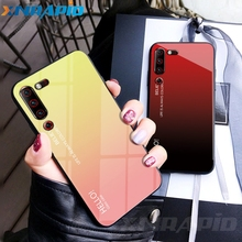 For Lenovo Z6 pro Case Gradient Tempered Glass Soft Silicone Bumper Cover Z6Pro