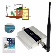 GSM 900 Cellular Signal Amplifier Booster 900MHz Network Mobile Phone Repeater GSM Cellphone 20dBm Aluminum Silver EU Plug