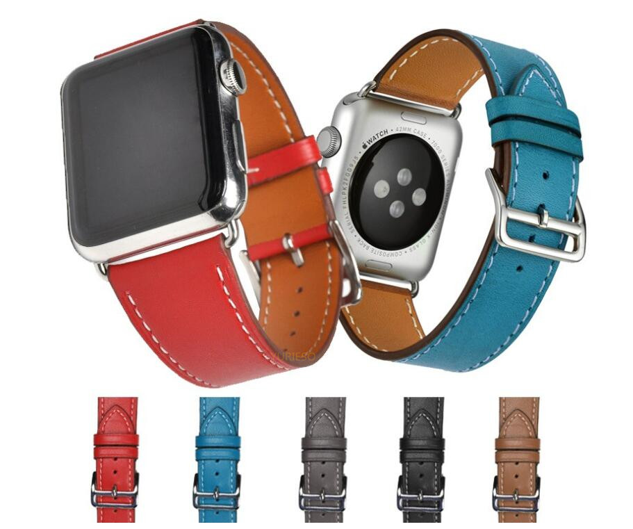 100pcs Classic Buckle Band for apple watch series 4 3 2 1 strap for iwatch calf
