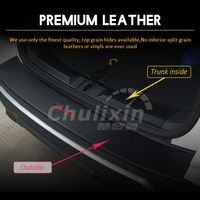 car sticker carbon fiber texture PU leather trunk door sill decorative cover for 2013 2014 2015 2016 20172018 FORD KUGA