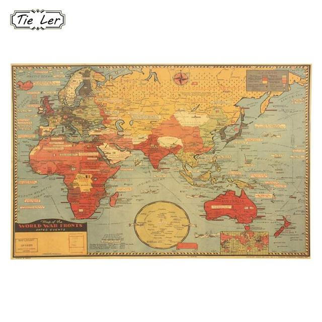 1PC Large World Geography Map Wall Sticker Art Bedroom Home ...