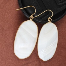 Wholesale 10 Pair Gold plating  stone turquoise oval earrings elegant women's earring