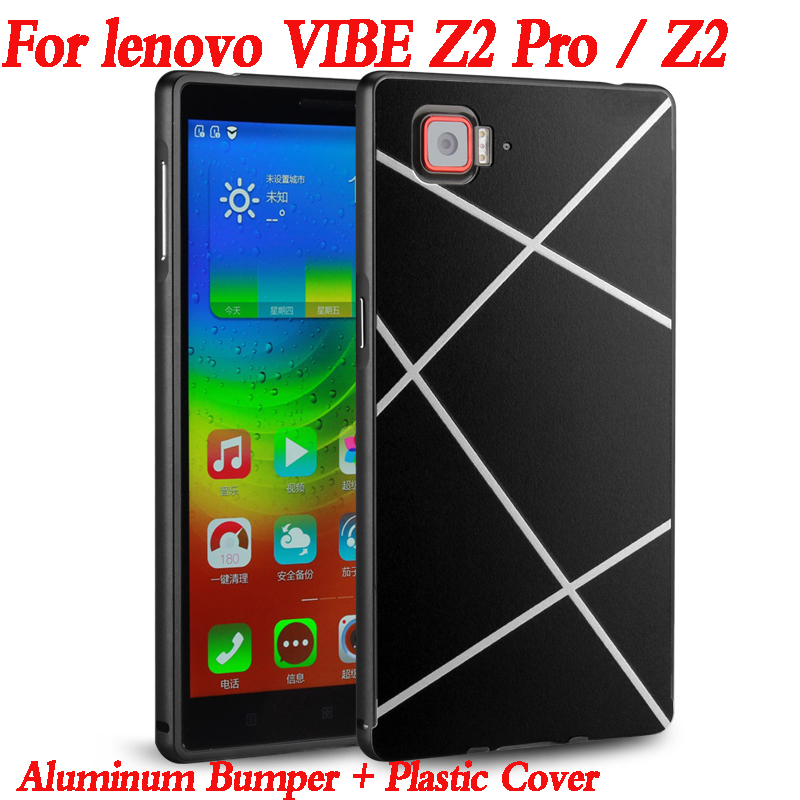 For Lenovo Vibe Z2 Pro Phone case shell Luxury Metal Frame Mirror Back Cover Case for Lenovo Vibe Z2 Pro K920 Z 2 Aluminium 2017