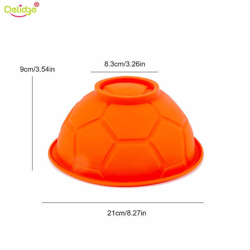 Delidge 1 قطعة 3D الفن لكرة القدم الكرة الرياضة سيليكون قالب الكعكة موس الشوكولاته عدد وأدوات قوالب الخبز المعجنات قالب الحلوى السكر لصق