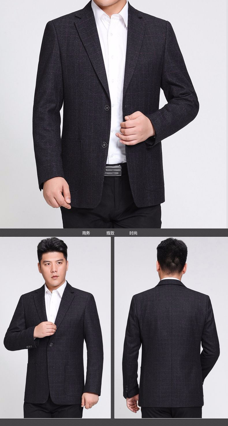 Man Paid Basic Blazer Gray Black Navy Blue Red Suit Jackets Men Casual Blazers Business Office Outfits Short Slim Fit Suit Blazers 2016 (11)