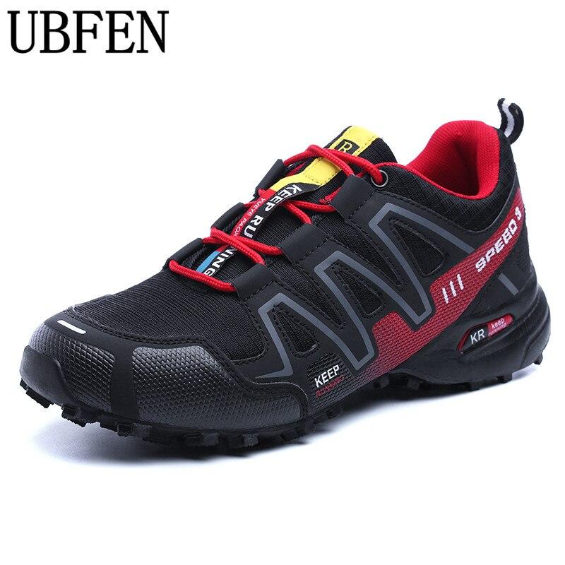 Tamaño grande 39-46 Impermeable Nuevo diseño Durable Hombres Zapatos de Escalada