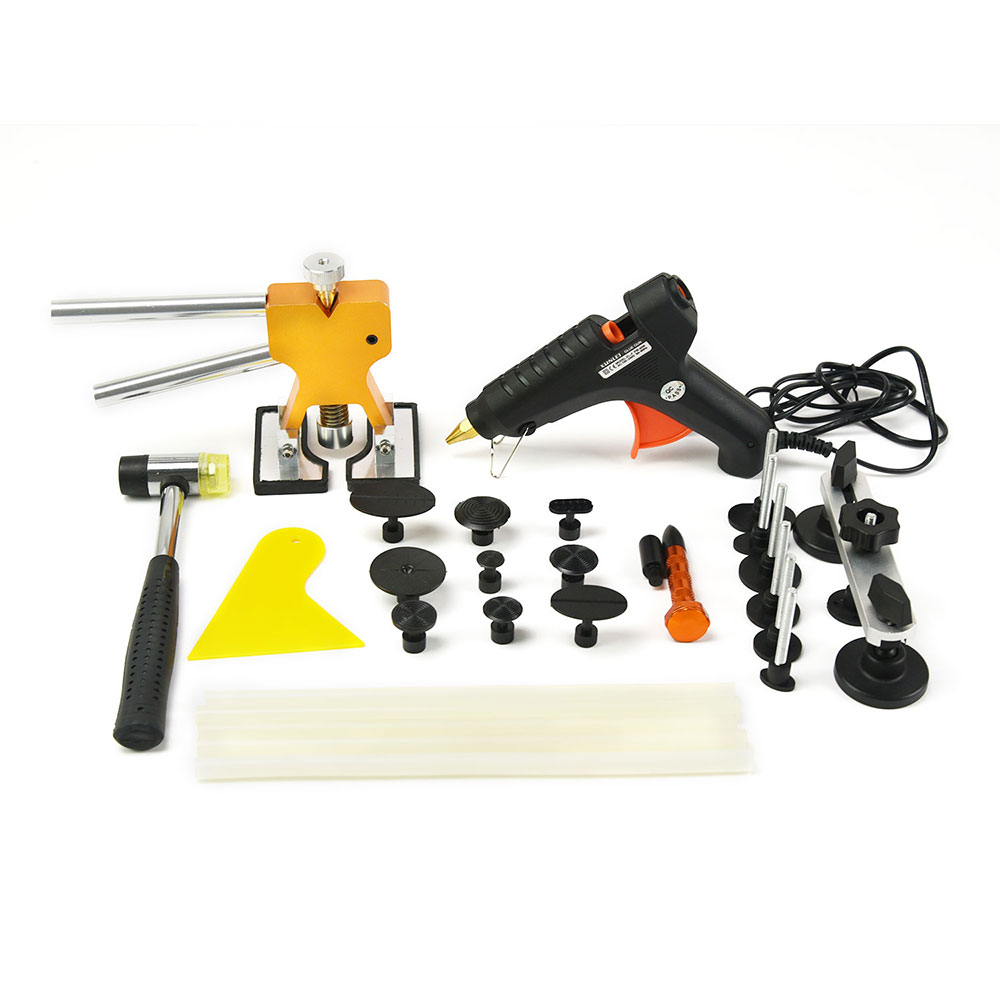 PDR Tools Dent Removal Paintless Car Body Repair Kit Dent Repair Tools PDR Dent Puller Kit Glue Gun Suction Cup For Car Dents pdr tools to remove dents car dent repair paintelss dent removal puller kit lifter removal glue tabs fungi sucker hand tool set