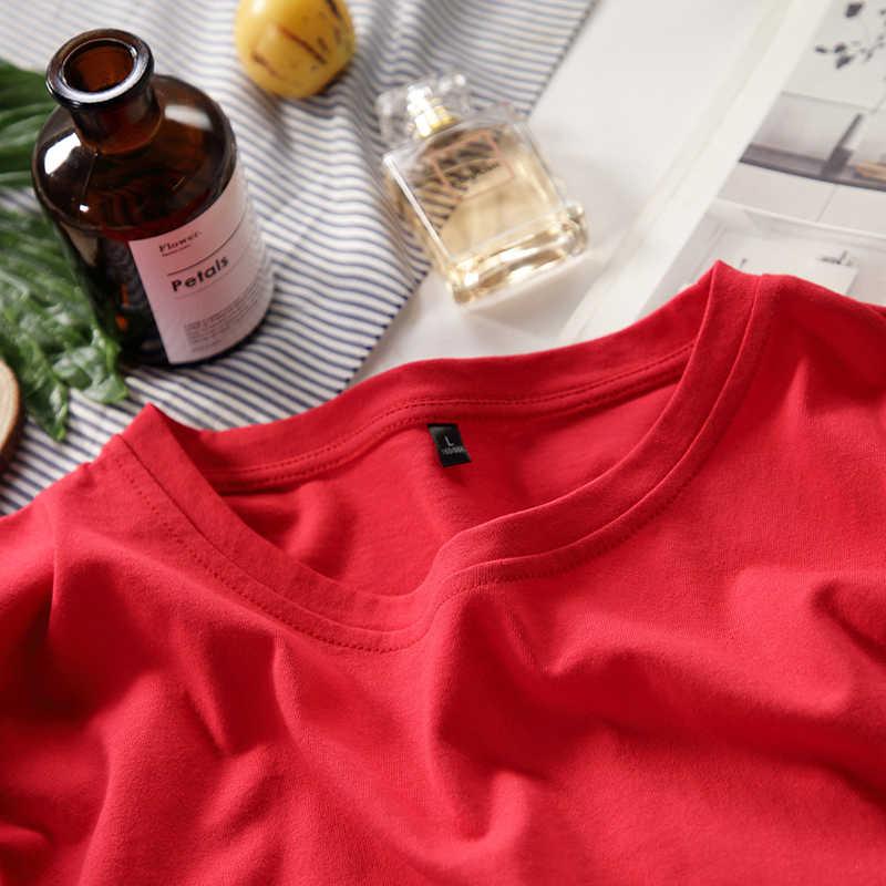 カジュアル原宿の女性の Tシャツ女性は夏新女性 Tシャツ半袖特大基本 Tシャツ綿ルースプラスサイズ 4XL