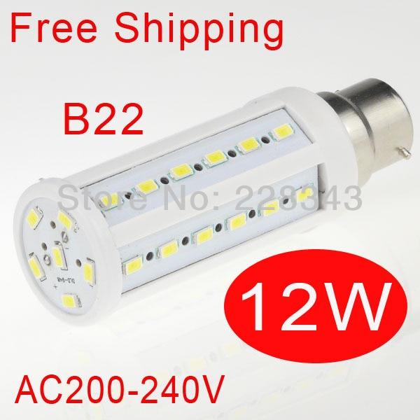 LED Corn Lamps 5730 SMD 12w E27 E14 B22 Light 42pcs LED bulb lamp AC 220V 240V 3pcs brelong g9 12w 1200lm smd 5730 led corn light