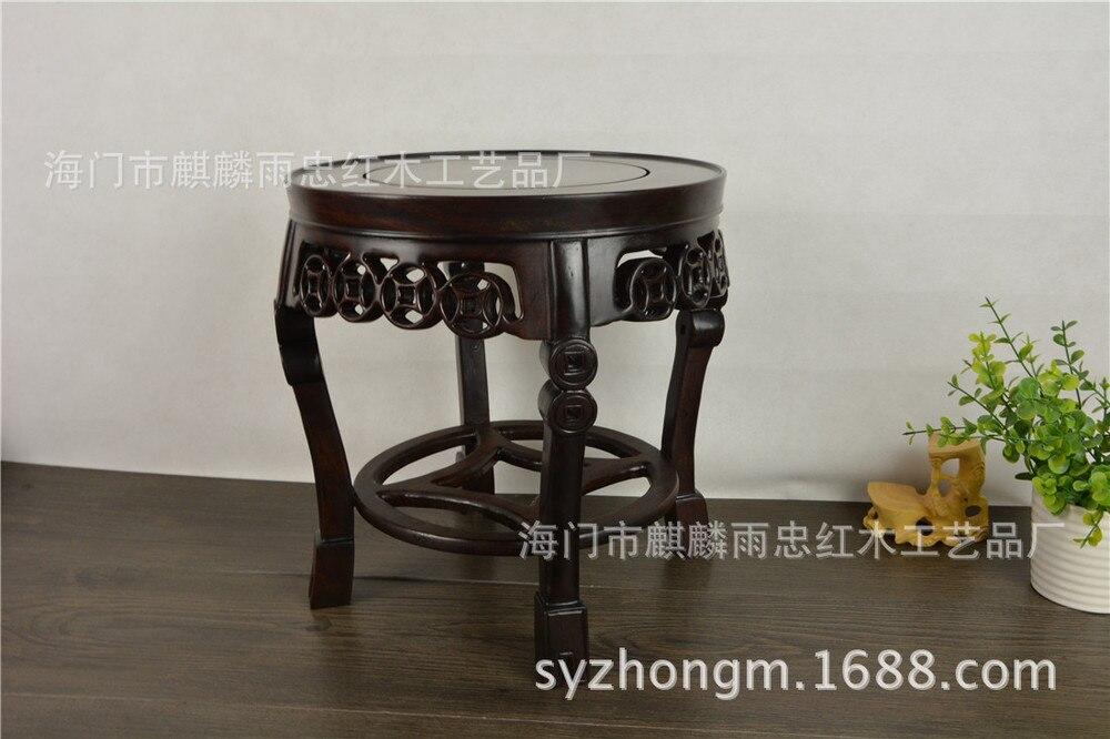 [Rain] Zhong Redwood artisanat séquoia support de réservoir de poisson bonsaï africain ébène cadre fleurs cadre