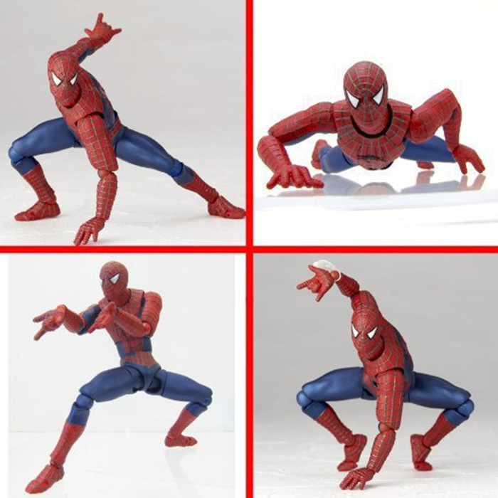 Free shipping Spider Man Action Figure Toys SCI-FI REVOLTECH Spider-Man Anime Movie Figures Model Toy GS093 spider man toys 2002