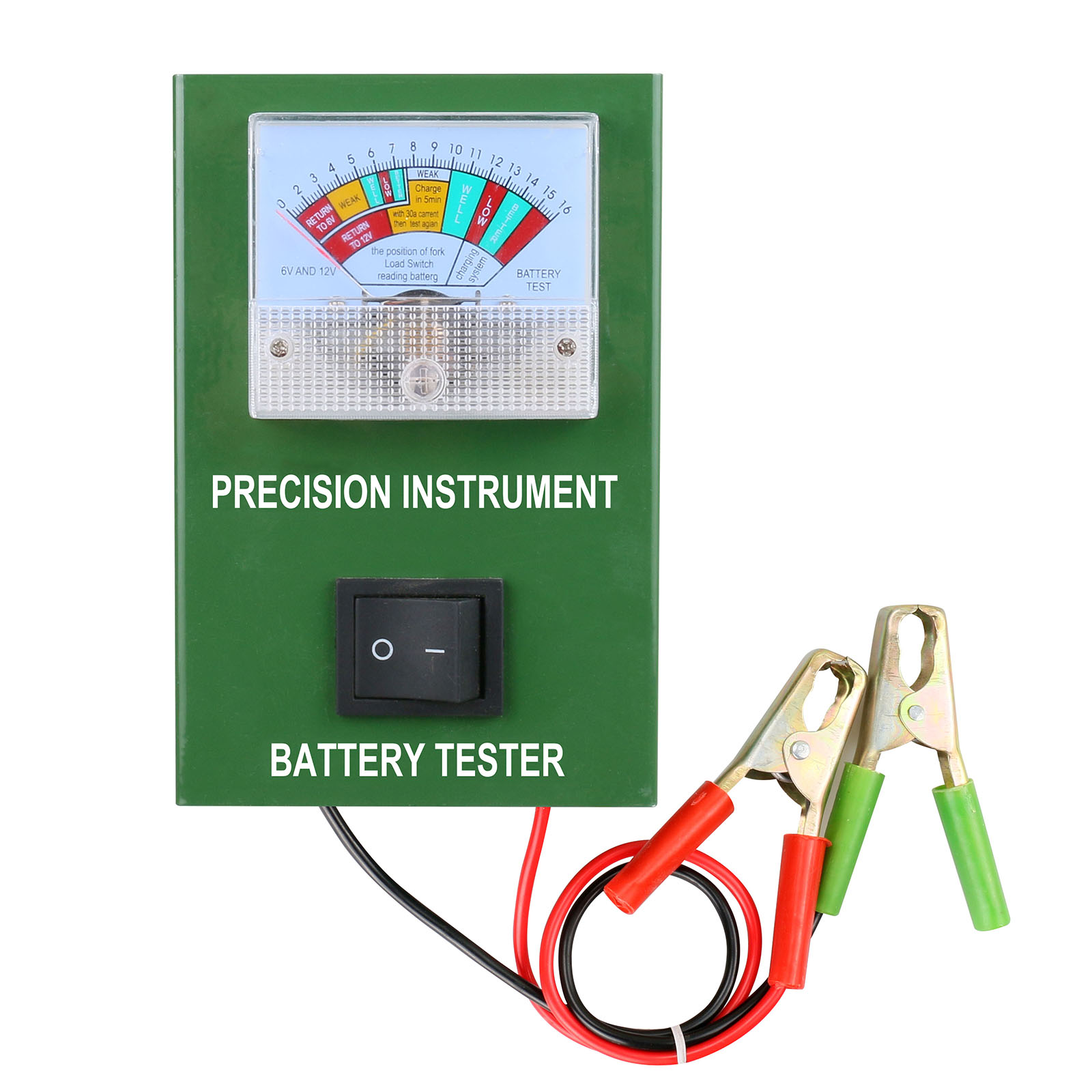 Bt50b Car Battery Tester Load 6v 12v 16v Dc Auto Engine Battery Volume Automotive 2-250amp Cca 5s Testing With Alligator Clip Charging & Starting Systems