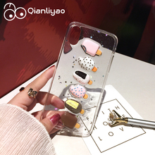Qianliyao Lovely 3D Ice Cream Phone Case For iPhone 11 Pro 6 6S 7 8 Plus X XS XR Max Glitter Powder Soft TPU Back Cover