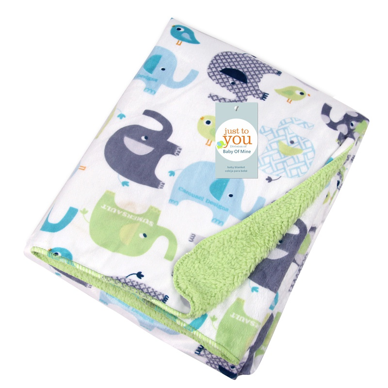 Baby Blankets Thicken Double Layer Infant Swaddle Bebe Envelope Wrap Newborn Baby Bedding Blanket Animal Manta New