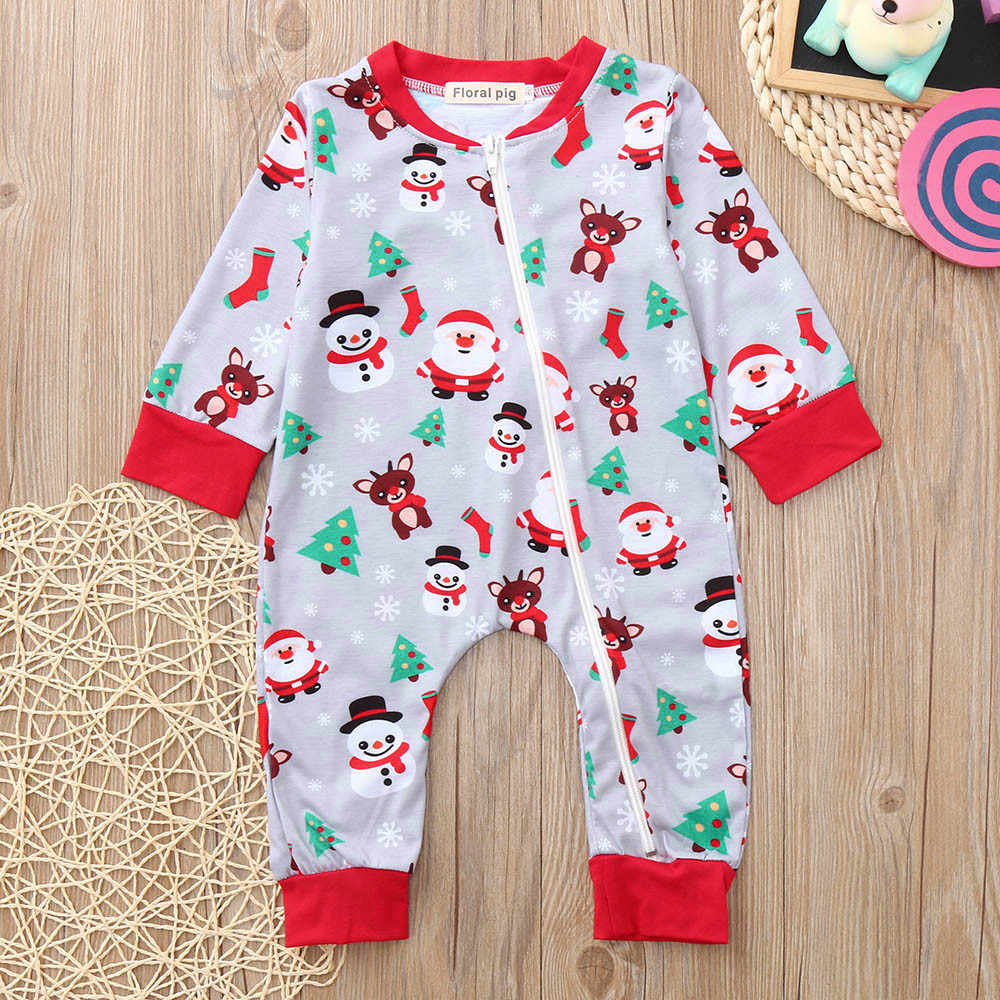 b366ba4aefe1 ... 2018 new year cute Infant Baby Boys Girls christmas clothes Long Sleeve  Santa Print girls rompers ...