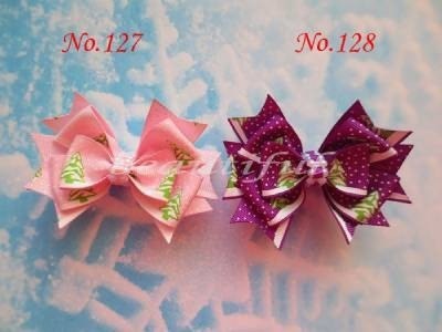 "200pcs wholesales hand customize free shipping BLESSING Good Girl Boutique 3.5"" Snowflake Hair accessories Bow Clip"
