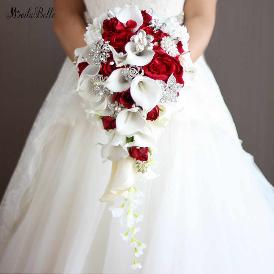 Modabelle Artificial Flowers Waterfall Wedding Bouquets With
