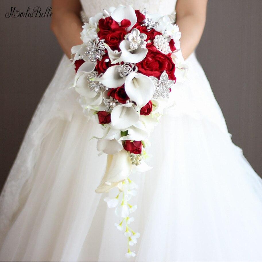 Bouquet Da Sposa A Cascata.Modabelle Fiori Artificiali Cascata Bouquet Da Sposa Con Il