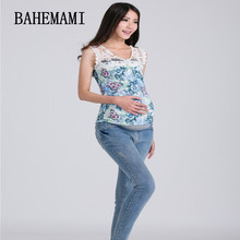 3XL Big Size Elastic Waist 100% Cotton Maternity Jeans Pants For Pregnancy Clothes For Pregnant Women Legging Autumn/Winter(China)