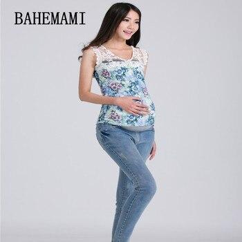 45197c993 3XL de gran tamaño cintura elástica 100% algodón pantalones vaqueros para  el embarazo ropa para
