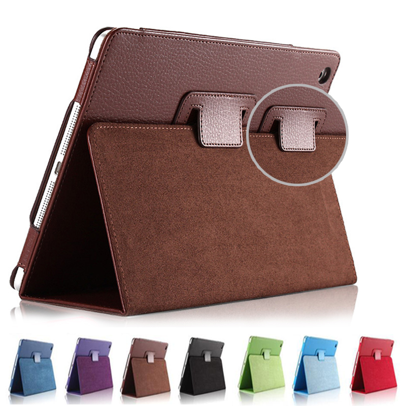 For Ipad Mini 1 2 3 Matte Litchi Soft PU Artificial Leather Case Magnetic Sleep /Wake UP Flip Cover For Ipad Mini case Retina mosunx mecall tech new butterfly patterns flip stand case cover for ipad mini 1 2 3 retina