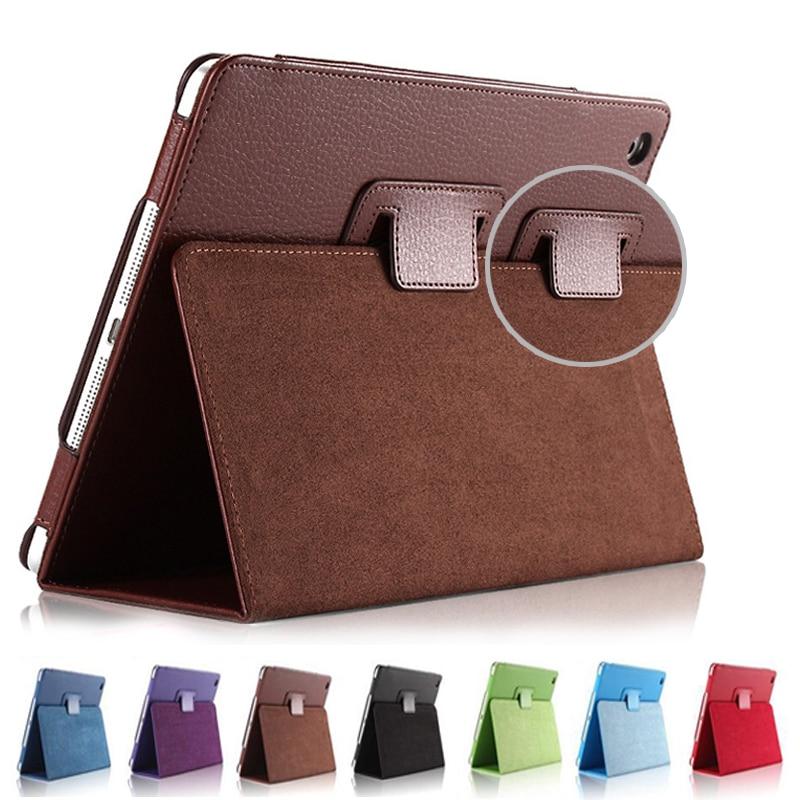 все цены на For Ipad Mini 1 2 3 Matte Litchi Soft PU Artificial Leather Case Magnetic Sleep /Wake UP Flip Cover For Ipad Mini case Retina онлайн