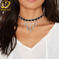 De metal hechos a mano collar de la borla de las mujeres punk gargantilha choker collar gótico gargantillas de terciopelo 2017 de joyería de moda