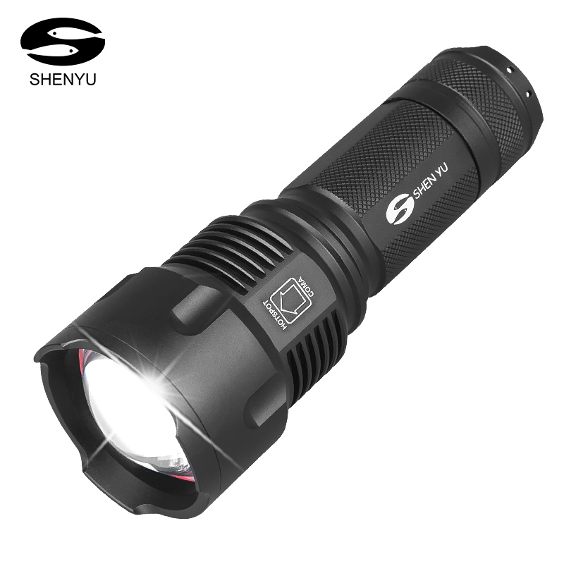 SHENYU LED Flashlight 26650 Torch Waterproof Flashlight Cree XML t6 l2 600 lumen Zoomable Portable Camping Light AA Battery